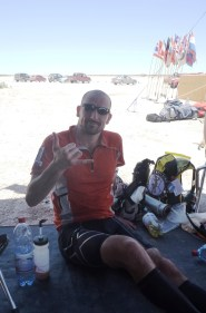 Relaxed in the shade having battled through Day 2 extreme temperatures