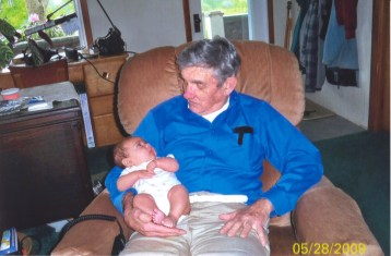 Bob with his great granddaughter, Camile