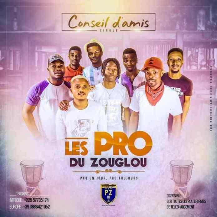 Les Pro du Zouglou dans le nouveau morceau Conseil D'amis