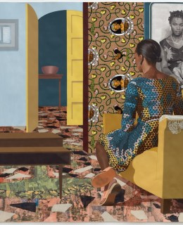 Njideka Akunyili Crosby: Portals (Mother and Child, 2016)