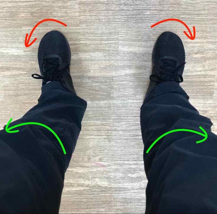 screw your feet into the floor