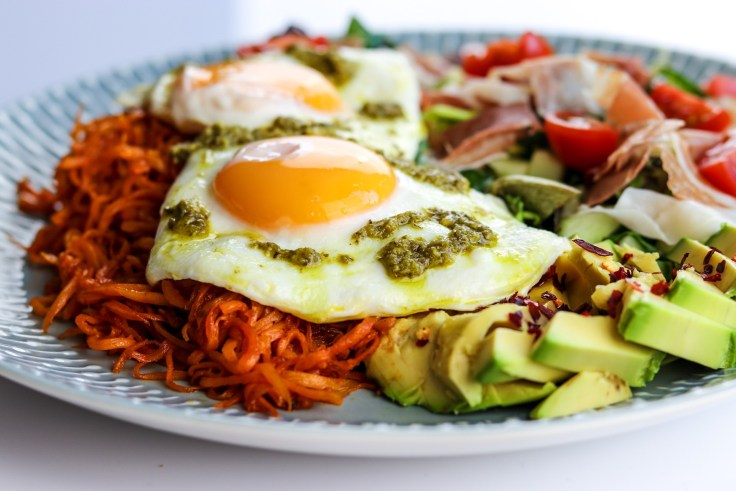 AdapNation Food Diary: 'Green Eggs & Ham', with Crispy Shredded Sweet Potato