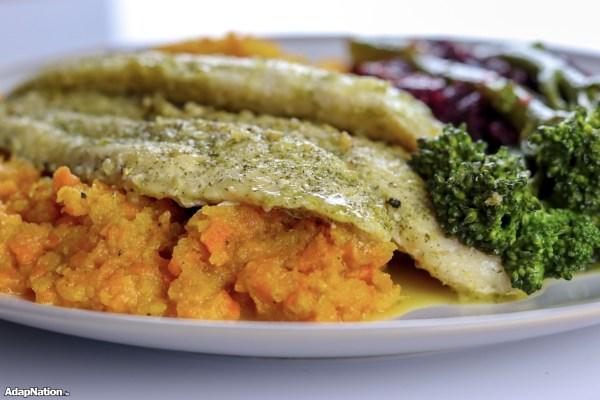 Basa Fillets, Root Vegetable Mash & Superfood Veg