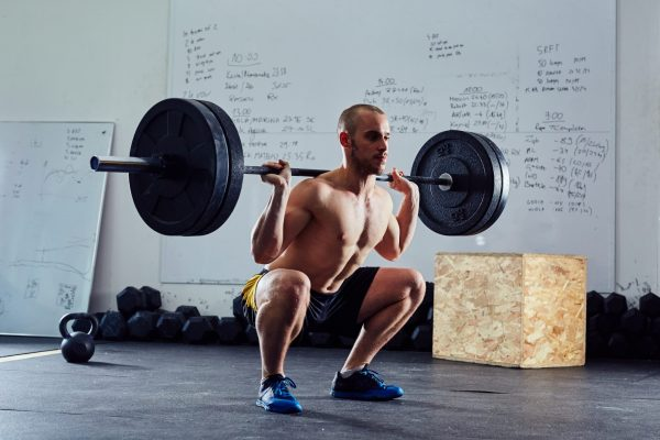 Barbell squat exercise