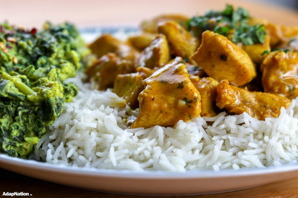Creamy Butter Chicken & Home-made Broccoli Saag