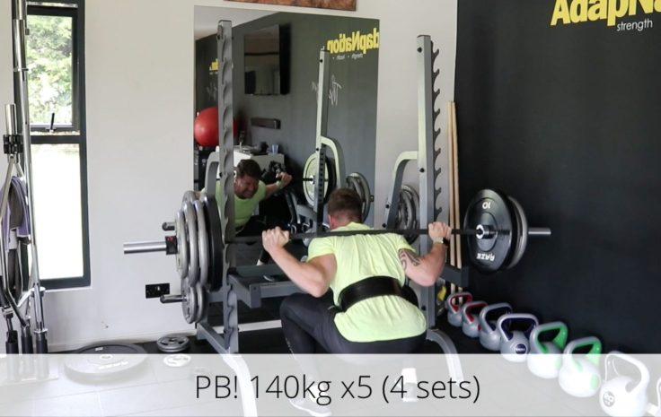 Katasi Back Squat PB 140kg 12th May 2018