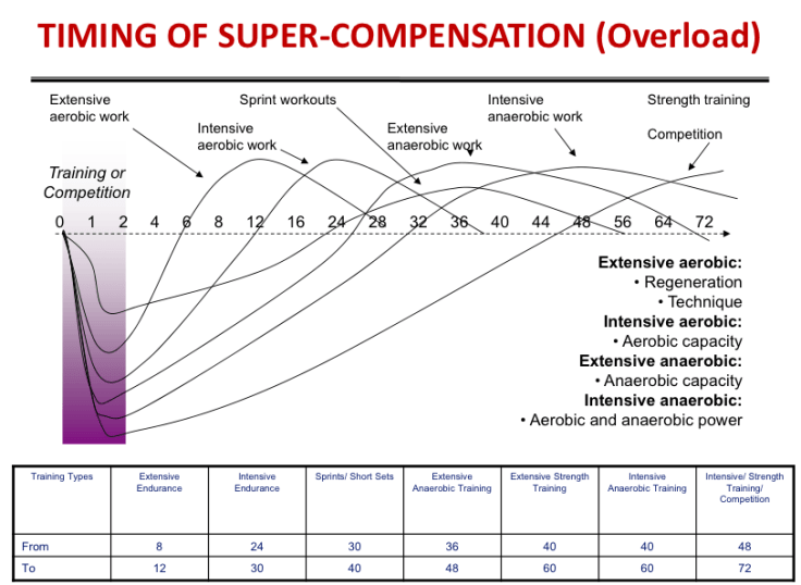 Supercompensation times