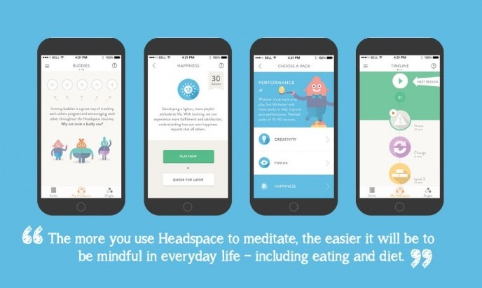 MOBILE APP: Headspace Guided Meditation. Just need 10mins a day.