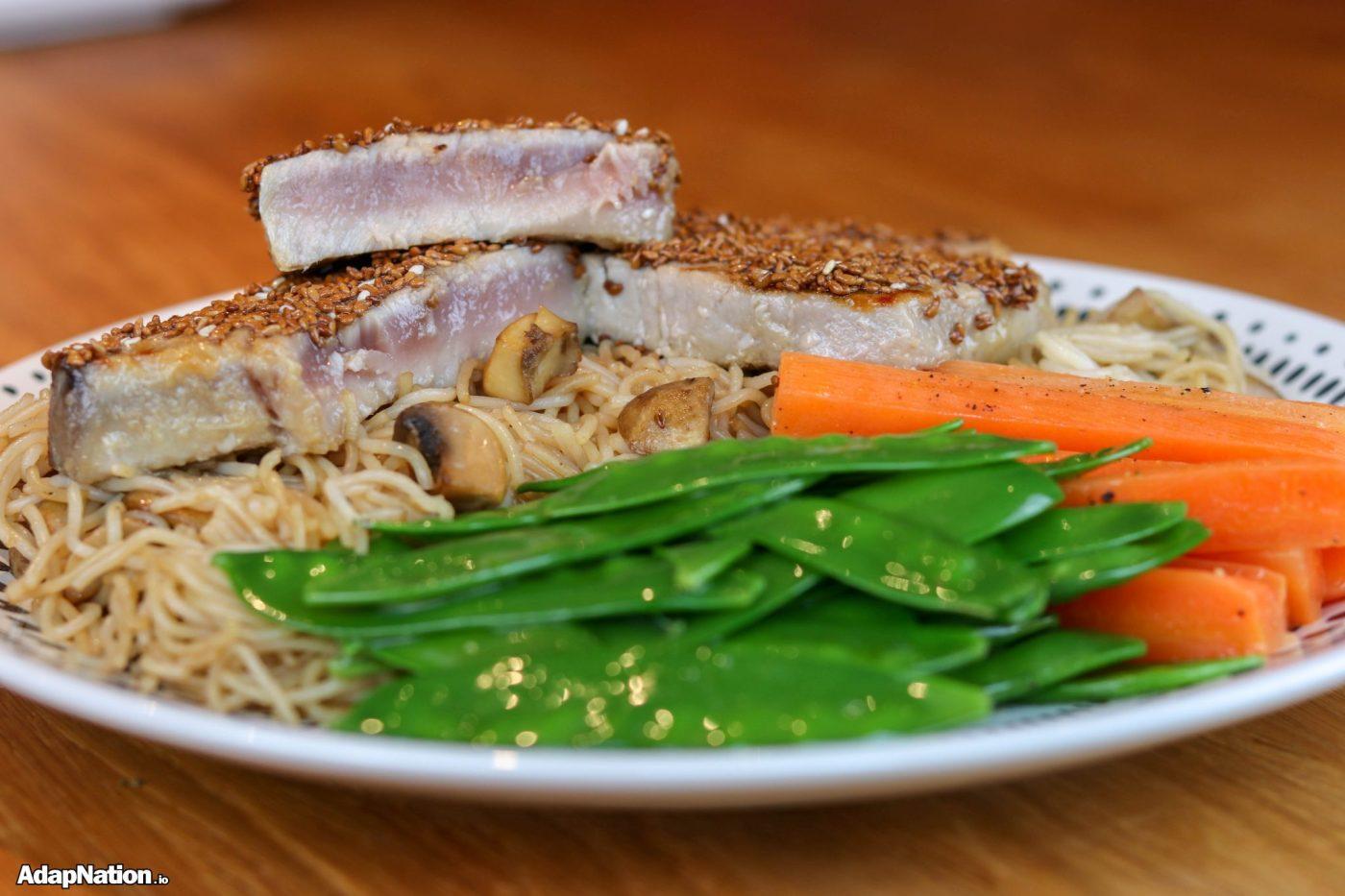 Honey & Sesame Seed Tuna Steaks
