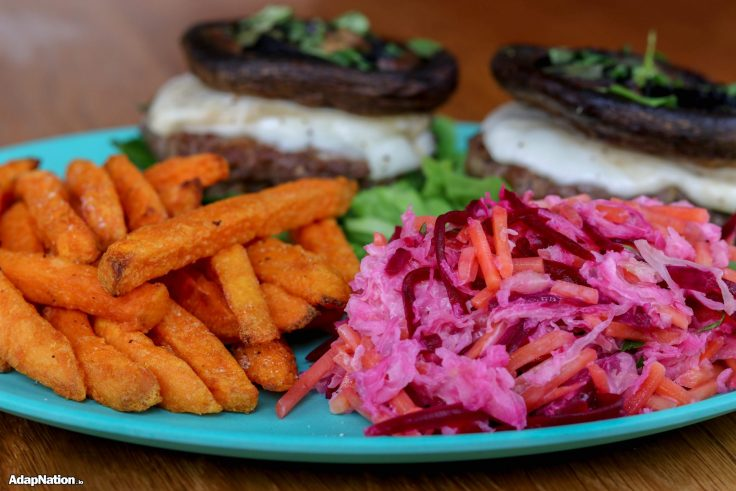 Home-Made Cali Burgers, Beetroot Coleslaw & SP Fries p3