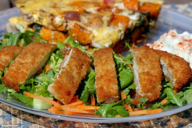 Loaded Sweet Potato Frittata & Chicken Salad p4