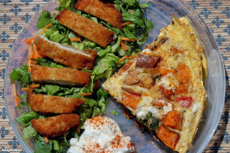 Loaded Sweet Potato Frittata & Chicken Salad p2