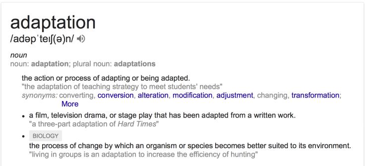 Adaptation Definition