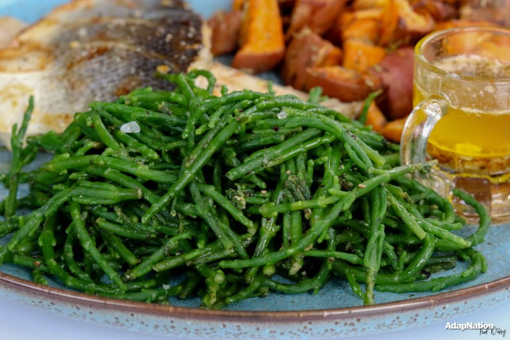 Pan Fried Sea Bass, Samphire & Sweet Potato Mini Roasties p4