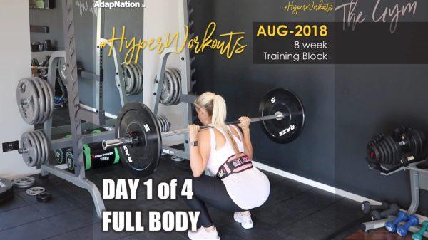 Ladies AUG-18 #HyperWorkouts - Day 1/4 - FULL BODY
