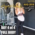 Ladies AUG-18 #HyperWorkouts – Day 4/4 – FULL BODY (optional)