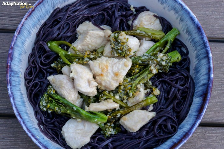 Black Rice Noodles with Honey & Sesame Chicken p3