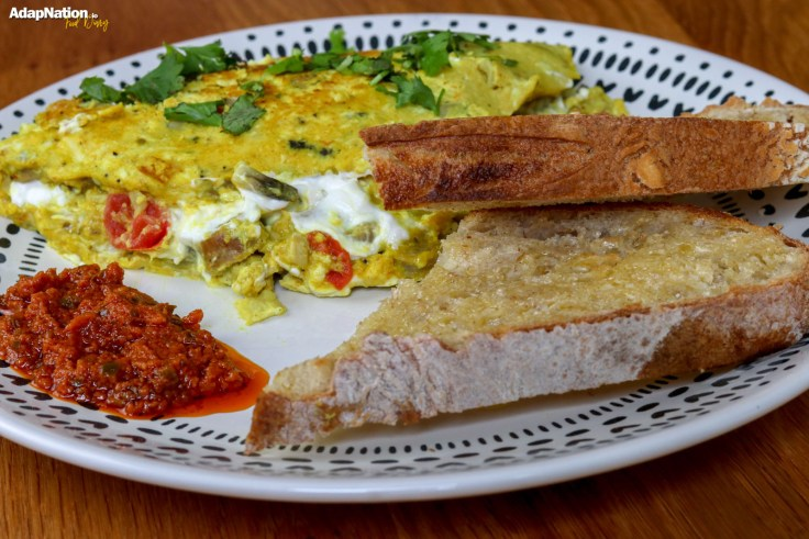 Sausage & Goats Cheese Omelette with Sourdough p3