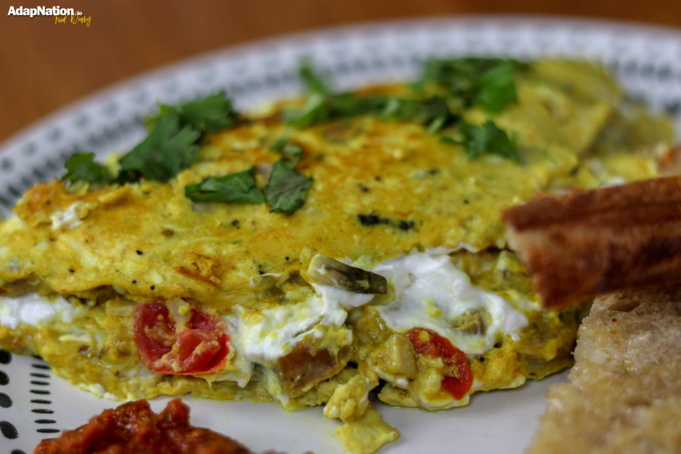 Sausage & Goats Cheese Omelette with Sourdough