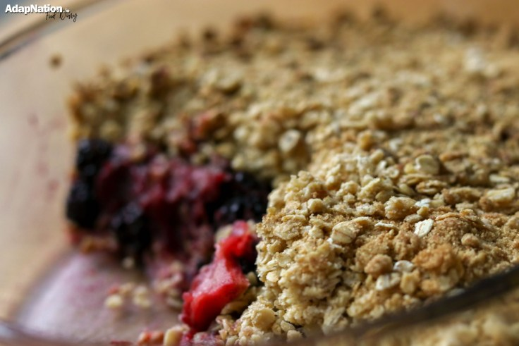 Home-made BlackBerry & Apple Crumble [Gluten & Lactose Free] p4