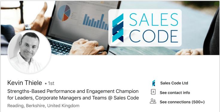 Kevin Thiele Sales Code