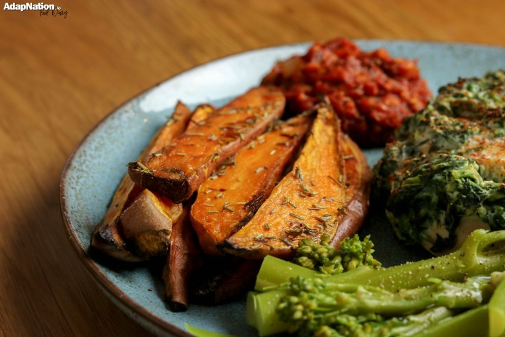 Hasselback Chicken, Sweet Potato Wedges & Home Made Salsa p4