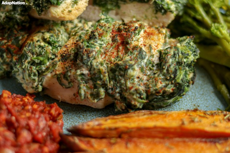 Hasselback Chicken, Sweet Potato Wedges & Home Made Salsa p2