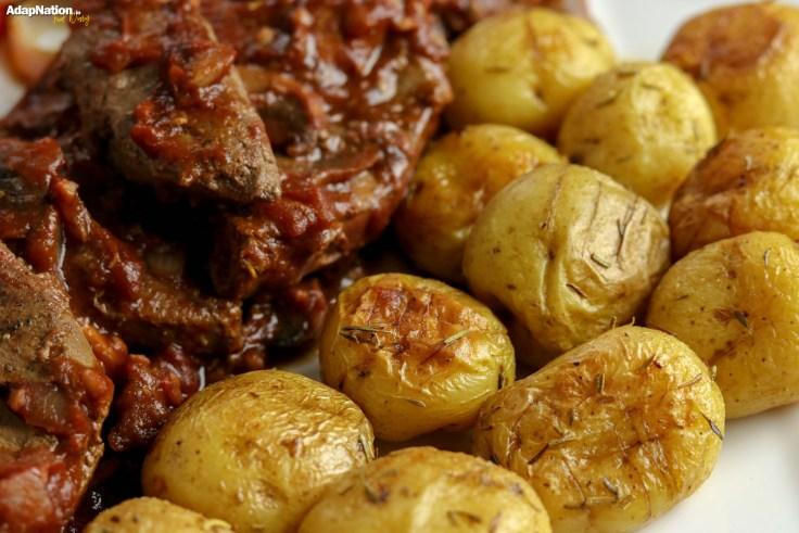 Lambs Liver in Tomato & Mushroom Sauce, with Sweet & Crispy Veg p4