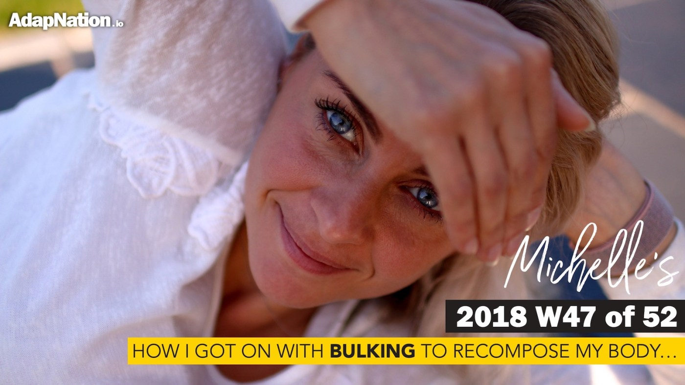 Michelle's experience of bulking