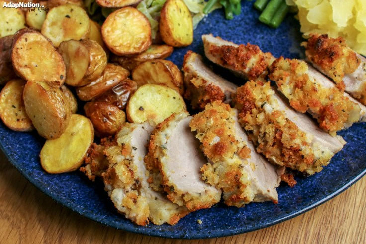 Sage & Onion Pork Tenderloin with Roasted New Potatoes, Creamy Cabbage & Home-Made Apple Sauce p5