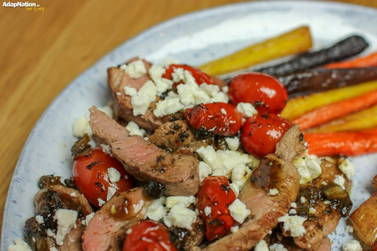 Minted Lamb, Feta & Tomatoes with Mini Roasties & Rainbow Carrots p3