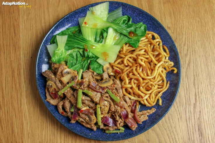 Sweet Chilli Beef with Udon Noodles & Pak Choi p2