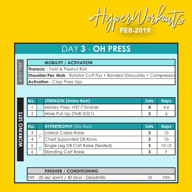 FEB-19 #HyperWorkouts Day 3