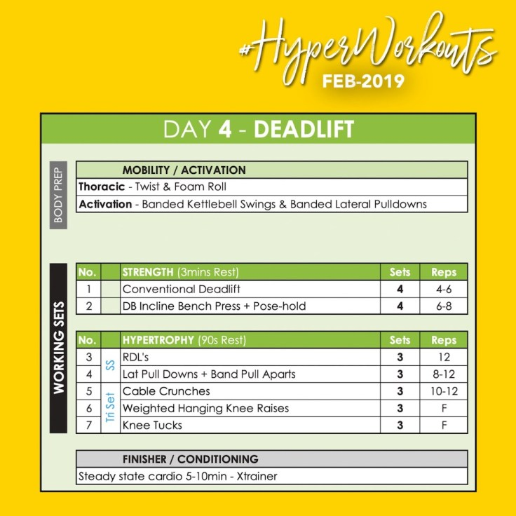 FEB-19 #HyperWorkouts Day 4