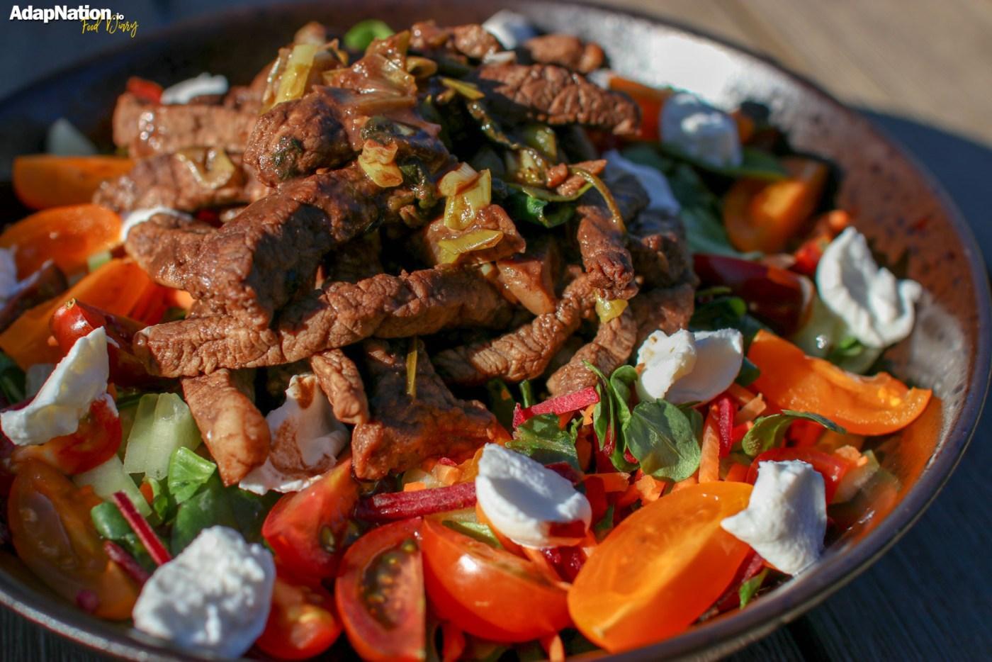 Balsamic Beef & Goats Cheese Tomato Salad