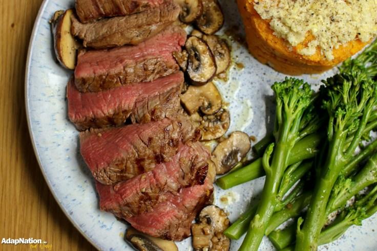 Fillet Steak, Artichoke & Sweet Potato Mash and Chestnut Mushrooms p3
