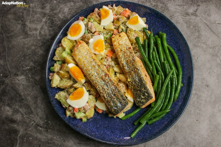 Crispy Salmon & Russian Salad p2