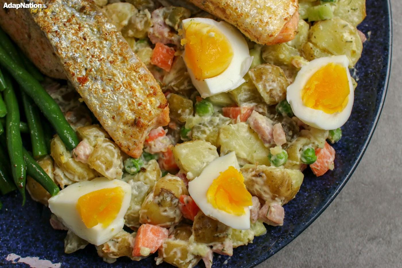 Crispy Salmon & Russian Salad