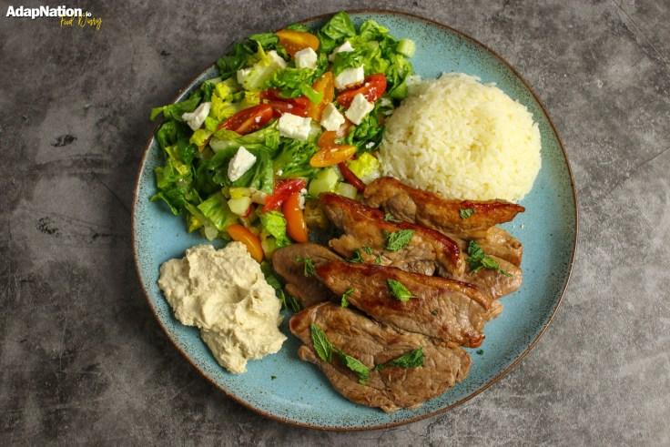 Greek Lamb Steaks & Salad