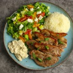 Mediterranean Lamb Steaks & Greek Salad