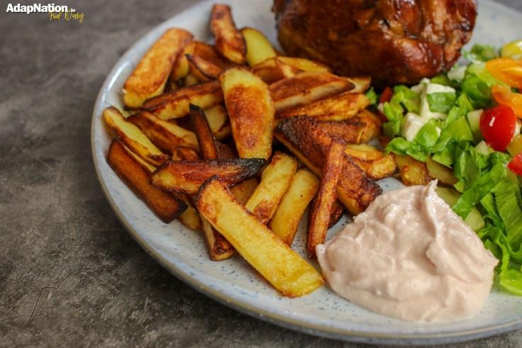 Lamb Shank, Chips & Greek Salad p3