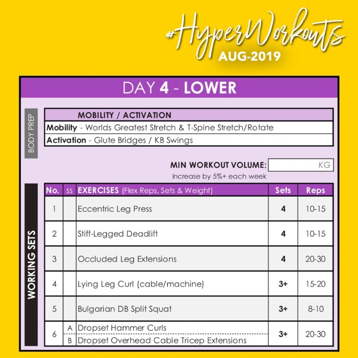 AUG-19 HyperWorkouts DAY 4
