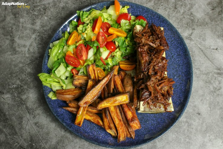 Beef Brisket & Bone Marrow, with Sweet Potato Wedges and Salad p2