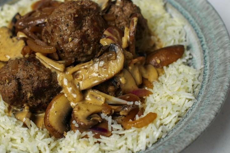Creamy Meatballs & Mushrooms on Rice p3