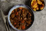Hearty Steak Stew with Roast Potatoes