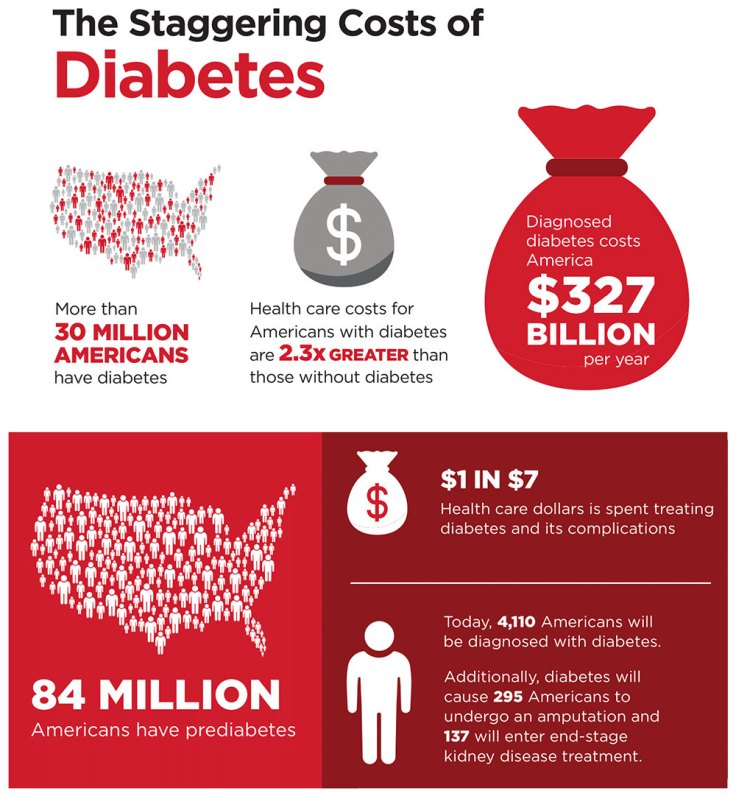 This represents US Diabetes costs only! Up from $174bn in 2007. Is it working? [source: ADA]