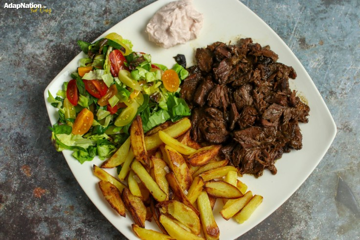 Slow-Cooked Ox Cheek, Crispy Chips & Salad p2