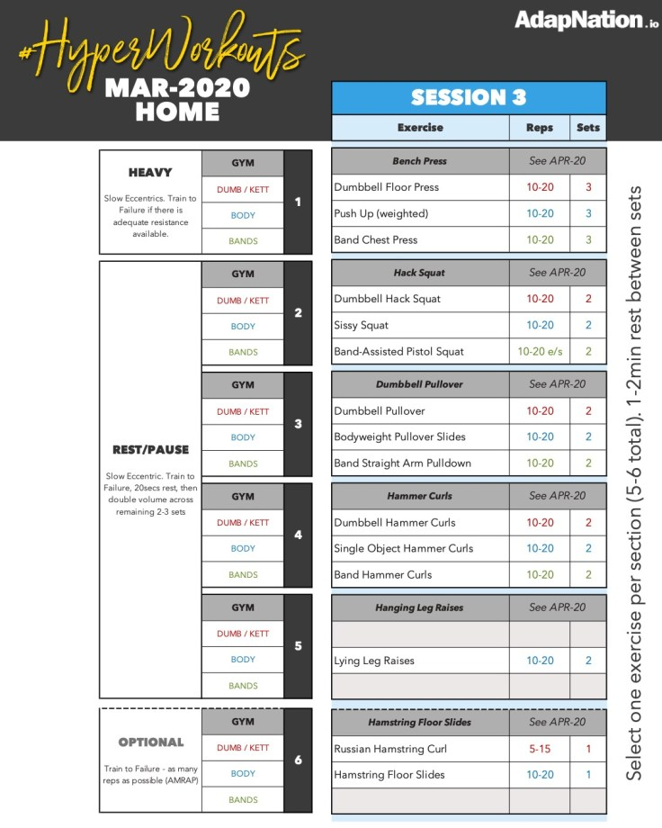 AdapNation MAR-20 Home Workout #HyperWorkouts - Session 3