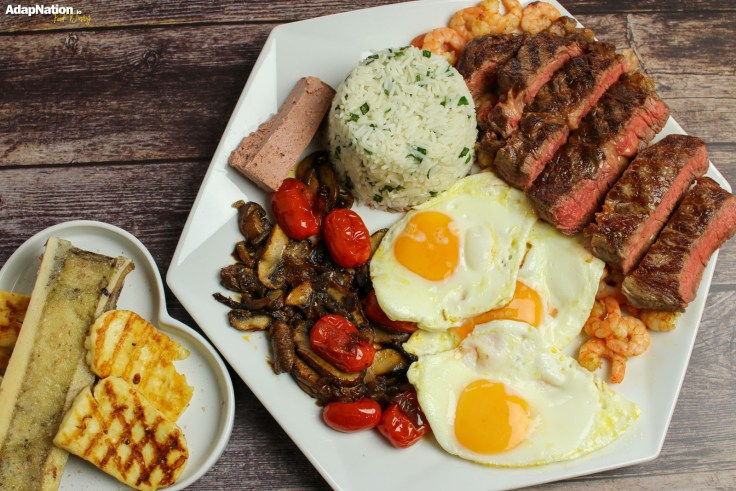 Steve's Fully-Loaded Steak & Eggs