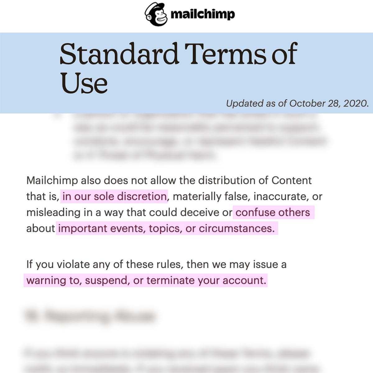 Mailchimp censoring your emails